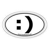 The classic keyboard smiley! Oval Sticker :)