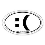 Classic Keyboard Frown Oval Car  Aufkleber