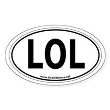 "LOL ""Laughing Out Loud"" Oval Car Sticker!"