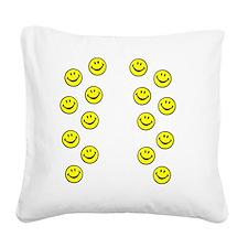 FlipFlopSmiley Square Canvas Pillow