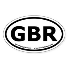 "Great Britain ""GBR"" Oval Car Decal"