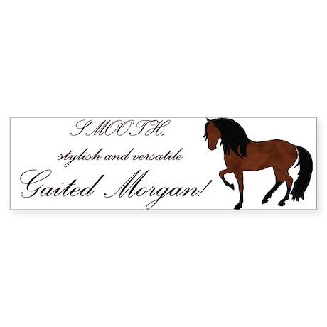 Natural Gaited Morgan bumper sticker