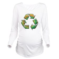 recycle-tie-dye-T Long Sleeve Maternity T-Shirt