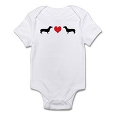 Dachshunds & Heart Infant Bodysuit