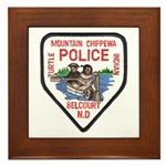 Chippewa Police Framed Tile