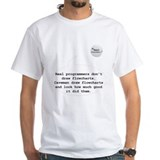 Real Programmers Flowcharts T-Shirt (White)