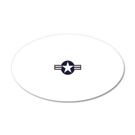 usaf marking 20x12 Oval Wall Decal