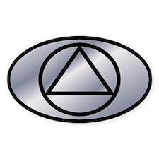 Silver Silver Auto ID Decal