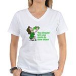 Tell Your Mom To Slow Down Women's V-Neck T-Shirt