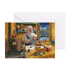 SANTAS WORKSHOP 10 Pk Greeting Cards
