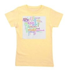 Word jumble craft Girl's Tee