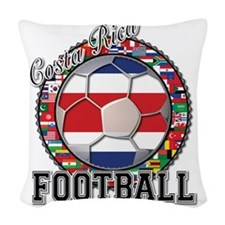 Costa Rica Flag World Cup Foot Woven Throw Pillow