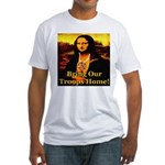 Bring Our Troops Home Mona Li Fitted T-Shirt