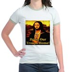 Bring Our Troops Home Mona Li Jr. Ringer T-Shirt