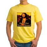 Bring Our Troops Home Mona Li Yellow T-Shirt