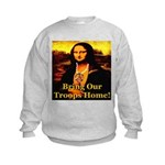Bring Our Troops Home Mona Li Kids Sweatshirt