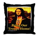 Bring Our Troops Home Mona Li Throw Pillow