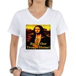 Bring Our Troops Home Mona Li Women's V-Neck T-Shi