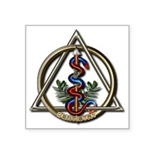 "Dentistry Caduceus Square Sticker 3"" x 3"""
