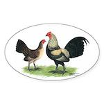 Brassy Back OE Oval Sticker