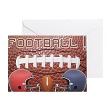 Football with helmets Greeting Card