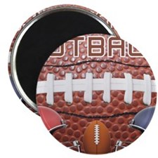 Football with helmets Magnet