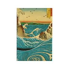 HiroshigeRapids1 Rectangle Magnet