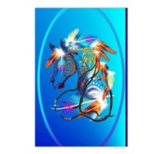 Jewel Oval Bright Horse 2 Postcards (Package of 8)