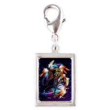 Photo Keyring-Bright Horse Silver Portrait Charm