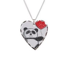Panda with Heart Balloon Necklace