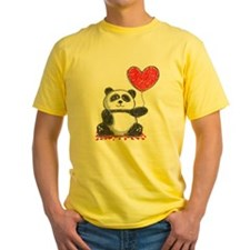 Panda with Heart Balloon T-Shirt