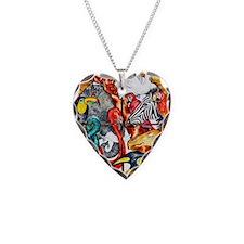 ark animals Necklace Heart Charm