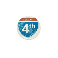 July 4th Hwy Mini Button