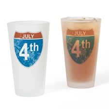 July 4th Hwy Drinking Glass