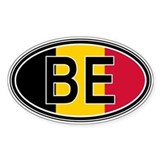 Belgium Euro Oval Decal