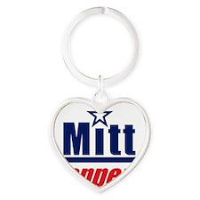 Mitt Happens3 Heart Keychain