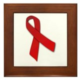 Red Ribbon Framed Tile