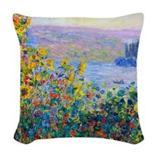 iPad Monet FloBeds Woven Throw Pillow