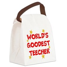 World's Goodest Teecher Canvas Lunch Bag