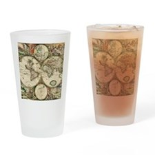 World_Map_1689SCV2 Drinking Glass