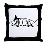 Wiccan Fish Throw Pillow