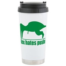 trex hates Ceramic Travel Mug