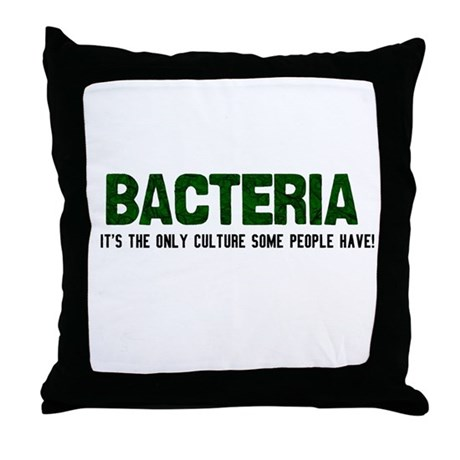 Bacteria/Biology Throw Pillow