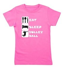 Eat Sleep Volleyball Girl's Tee