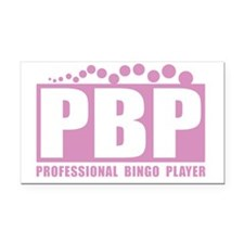 profbingoplayer_pink Rectangle Car Magnet