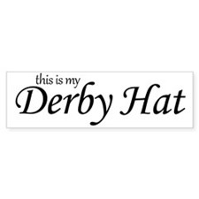 derby_hat Bumper Sticker