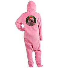 bulldogxmas-round Footed Pajamas