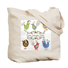 Whimsical Birds Customized Tote Bag