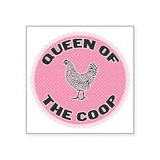 """queen-1 Square Sticker 3"""" x 3"""""""