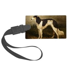 BorzoiPaintingPC100 Luggage Tag